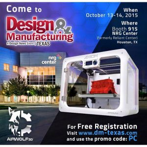 Airwolf3D at Design and Manufacturing Show