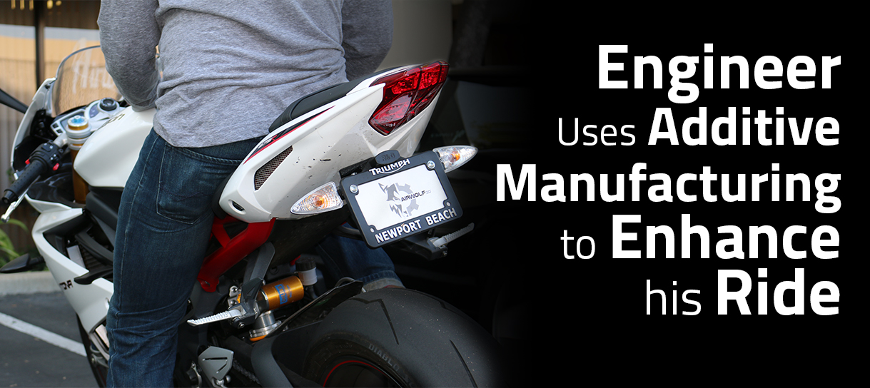 Additive Manufacturing used to enhance a motorcycle