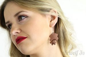 3D Printed Copperfill Earrings