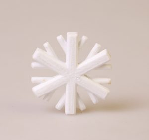 3D Printed Snowflake with Polycarbonate