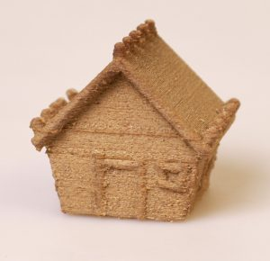 Gingerbread House 3D Printed with LayWOO-D3