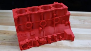 A large 3D printer, such as the Airwolf 3D Axiom was required to create this 3D Printed Engine in ABS.