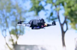 Drone created with a 3D-printed drone kit for students.