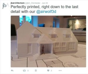 JB Architecture shared one of its 3D-printed architectural models on Twitter.