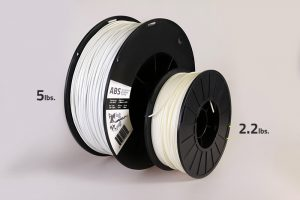 New 3D printing materials sizes like larger spools of ABS filament.