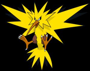 Zapdos from Pokemon Go