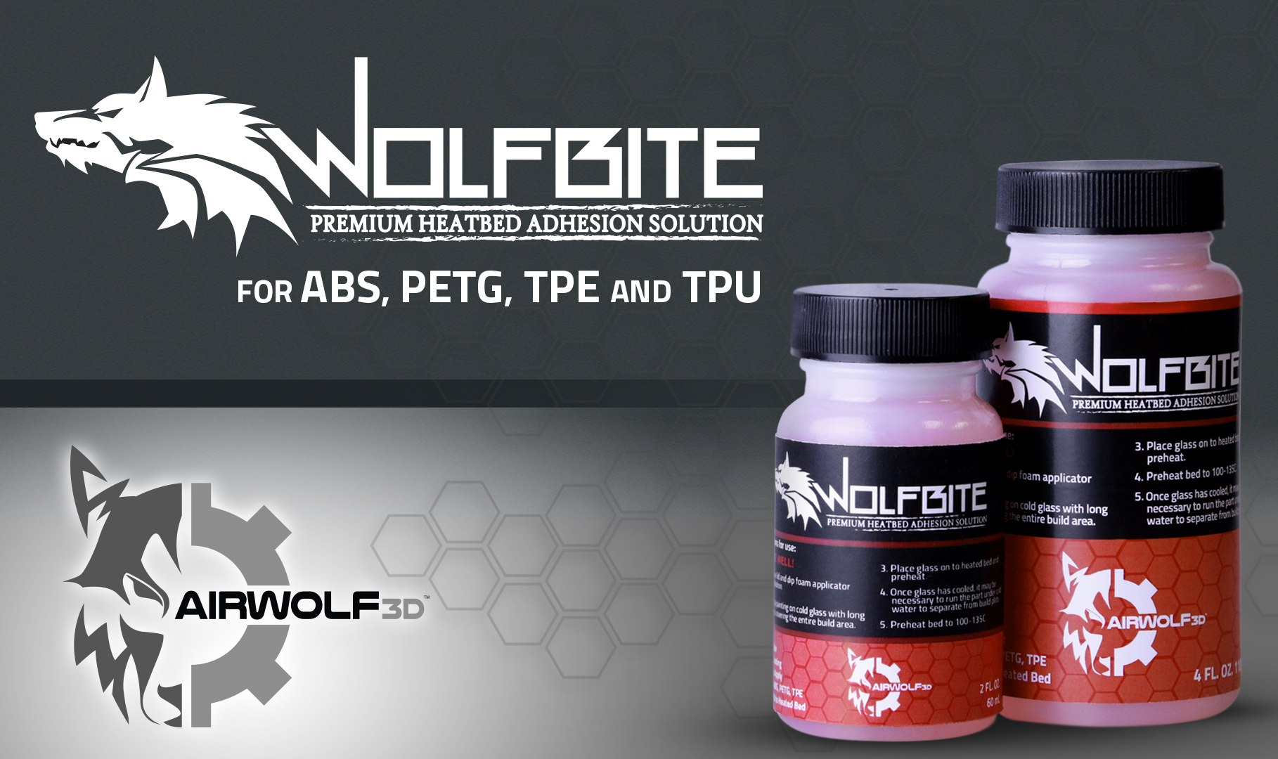 Wolfbite 3d Printer Adhesive Solution Prevents Parts From