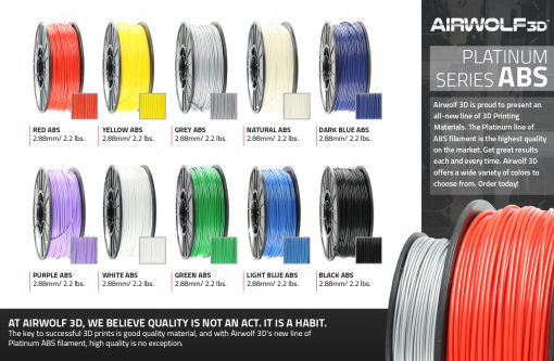 ABS filament 3d printing
