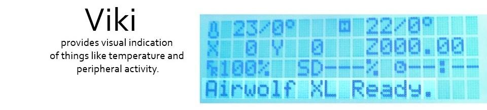 ViKi provides visual indication of things like temperature and peripheral activity