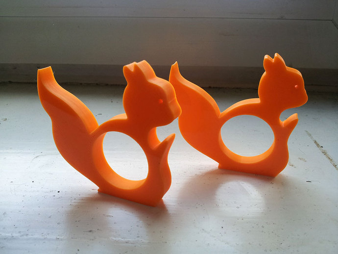 3D Printed Squirrel Napkin Ring