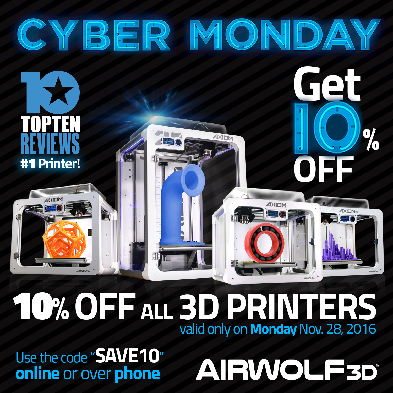 Cyber Monday 3D Printers