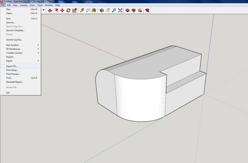 how to convert and export google sketchup skp files to stl for 3d printing airwolf 3d