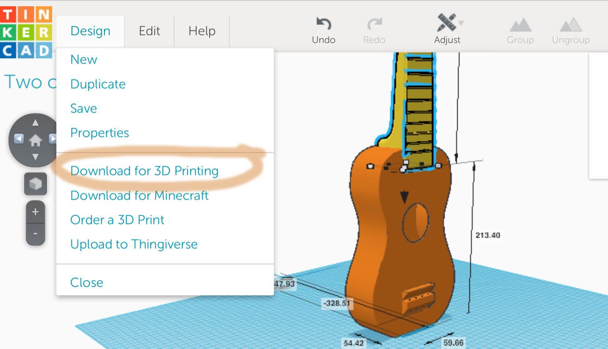 Dual extrusion 3d printing a ukulele case study Tinkercad 3d