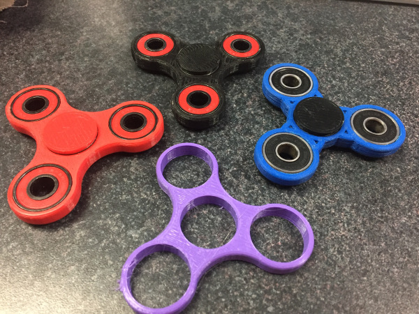 3D Printed Spinners for Students