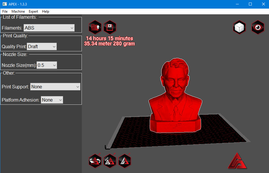 3D Printing Software APEX