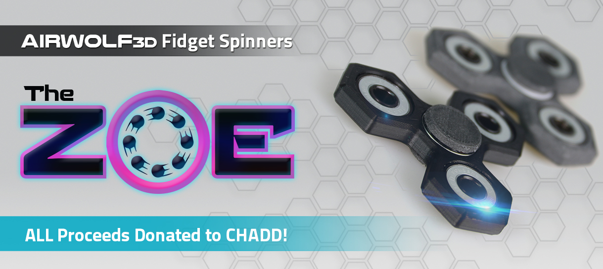 limited edition 3d printed fidget spinners from airwolf 3d