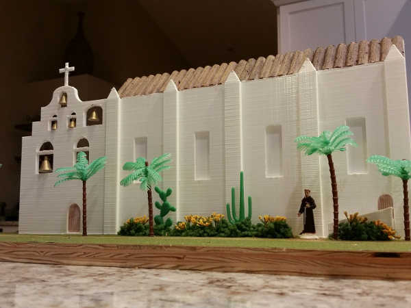 3d Printed School Project California Mission Model