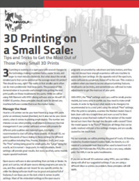 How to 3D Print Small Parts Successfully
