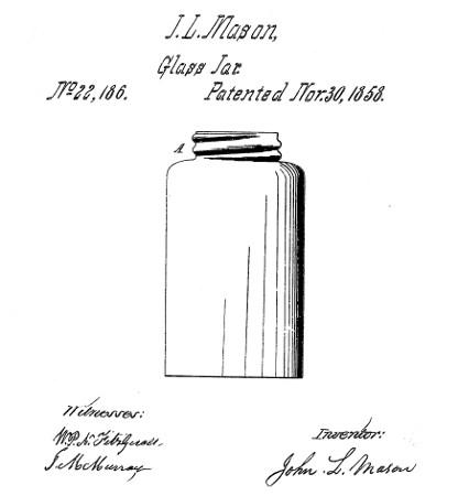 Mason Jar Patent Drawing