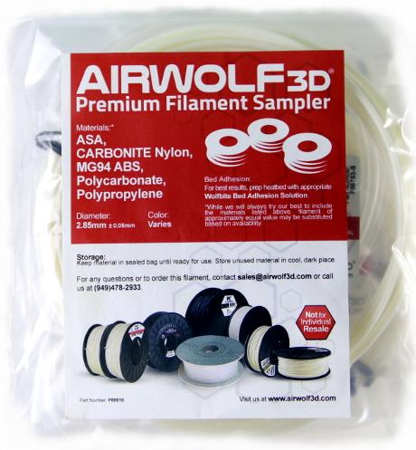 3D Printer Filament Samples