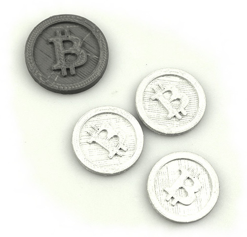 3D-Printed Metal Bitcoin