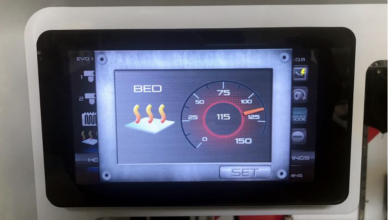 3D Printer Touchscreen Temperature Control