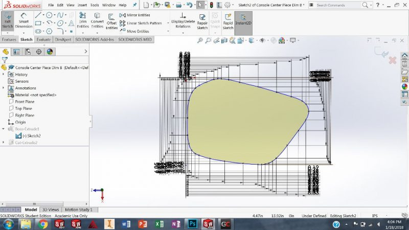 Spline Tool in SolidWorks