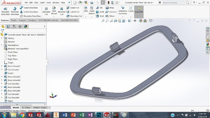 Create Tab in SolidWorks
