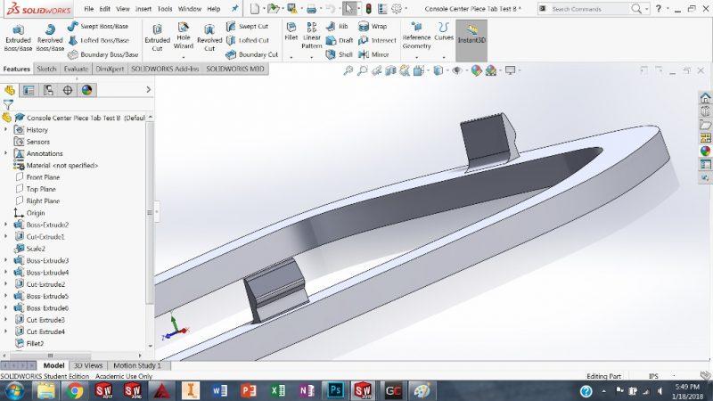 Designing Tabs SolidWorks