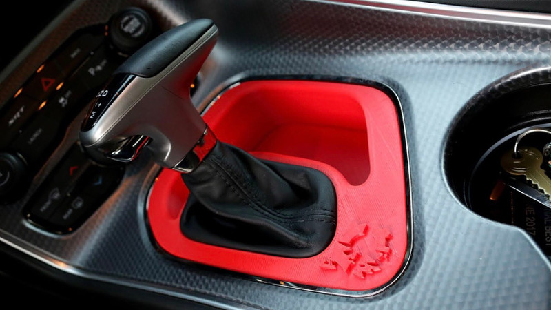 3D-Printed Center Console Dodge Hellcat