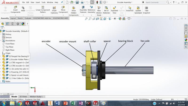 CAD Design Encoder Holder