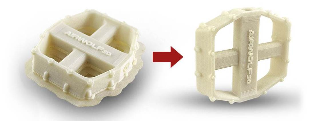 Free Sample 3D Printed Part ABS and Hydrofill water soluble_Bike-Pedal