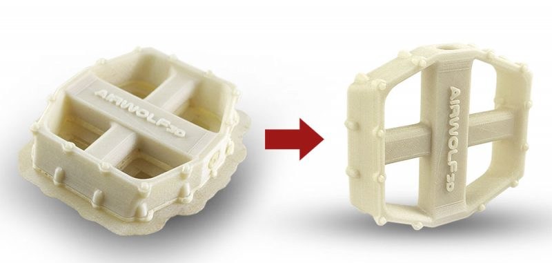 Sample 3D Printed Part ABS and Hydrofill water soluble_Bike-Pedal
