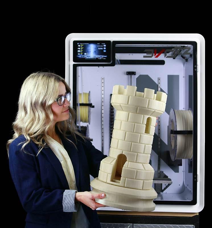 Large 3D Printer Polycarbonate HUGE ABS Part square