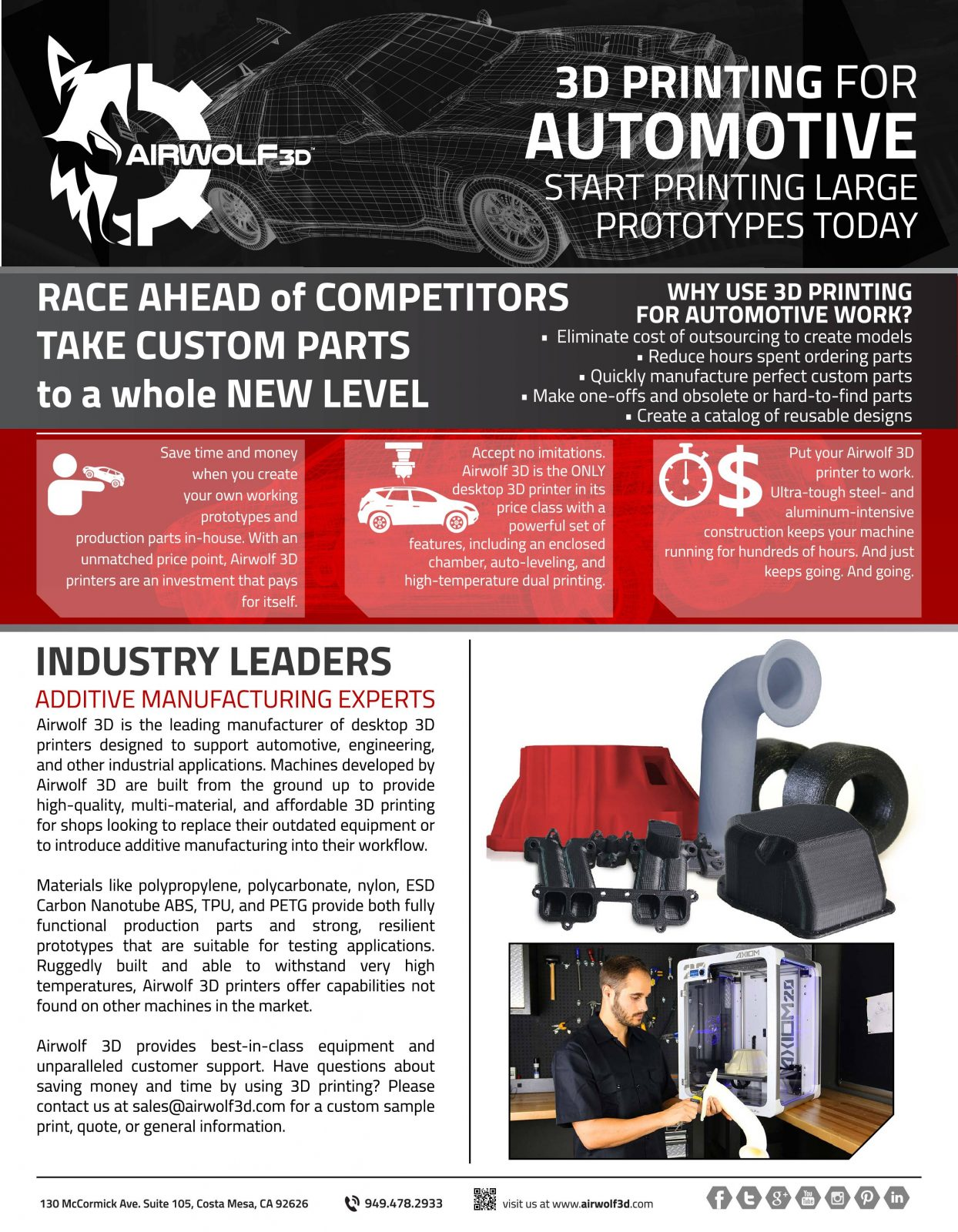 3D Printing for Automotive One Sheet