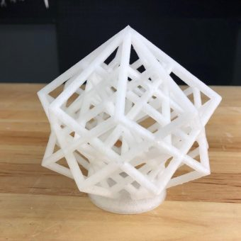 Part Printed With Clear ABS Filament