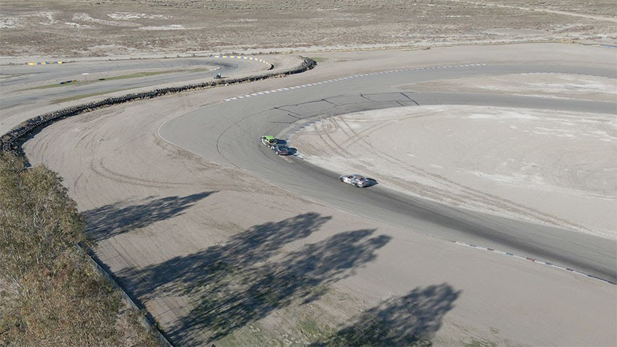Buttonwillow rear-ended in a tight turn.