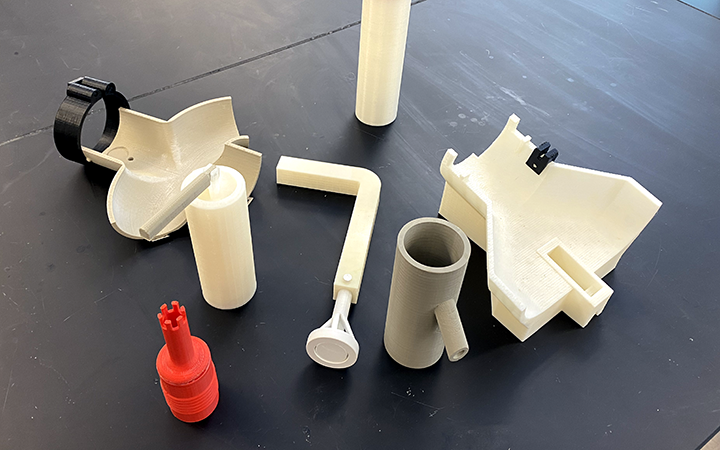 Several water pump prototypes which were tested for functionality.
