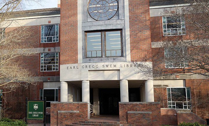 The home to the Makerspaces at William and Mary - The Earl Gregg Swem Library.