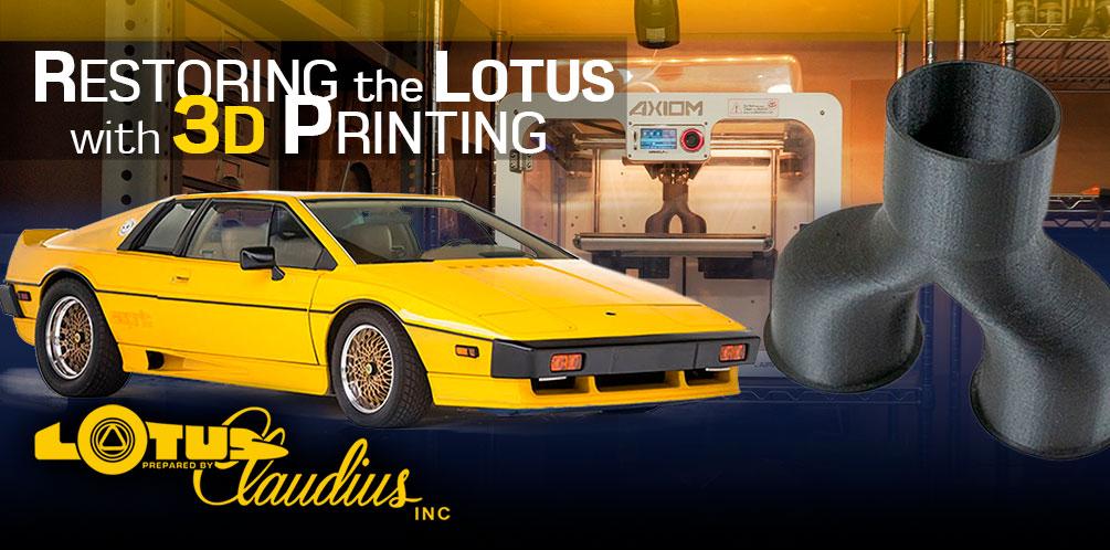 3D Printing Lotus Parts