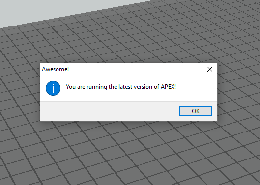 You are running the latest version of APEX 3d printer slicing software