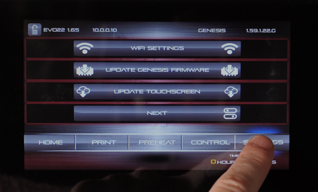 press SETTINGS. Go to WIFI SETTINGS, then enter your network information.