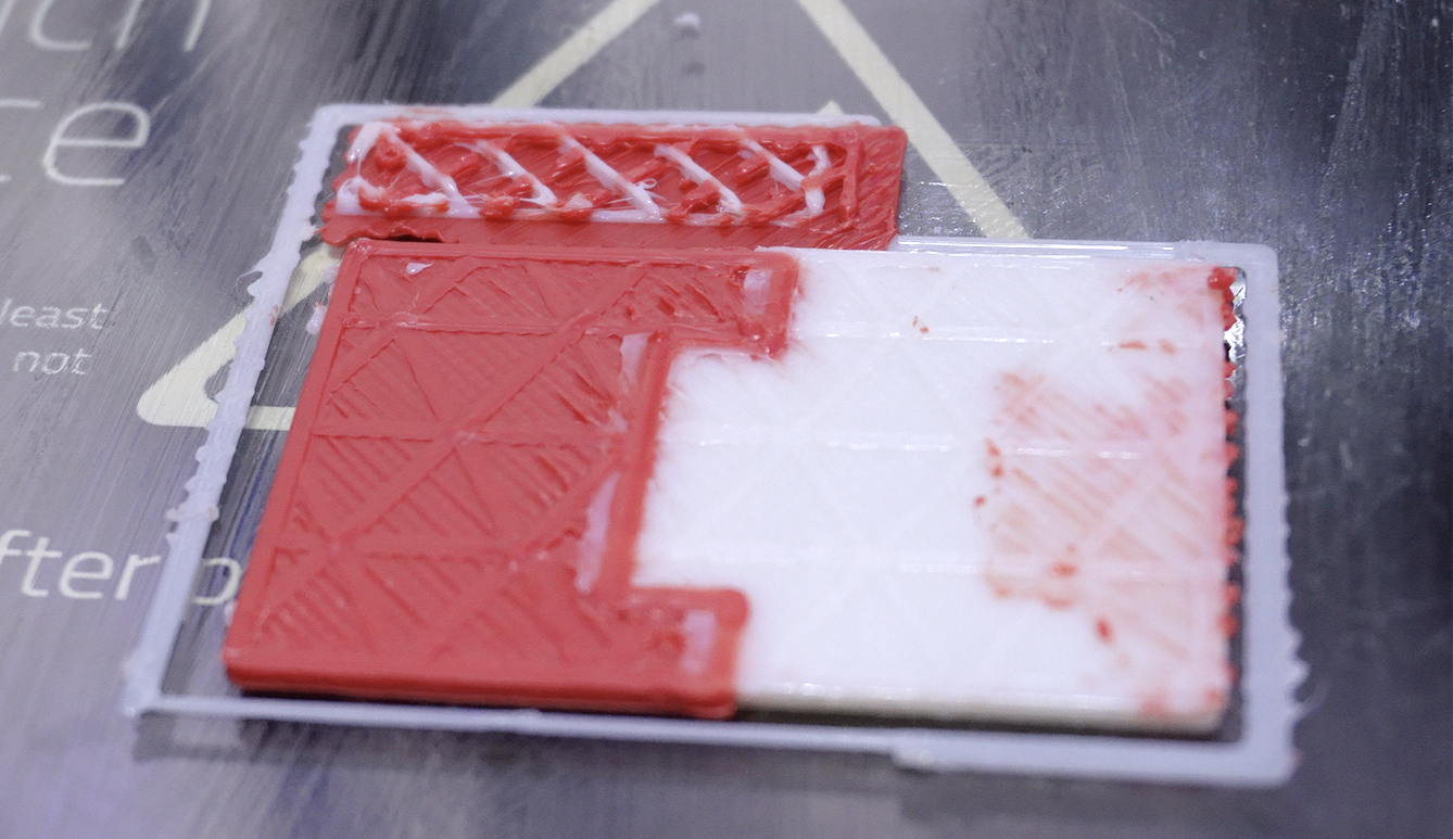 Contamination and material bleed are common issues when the printer is not calibrated properly.